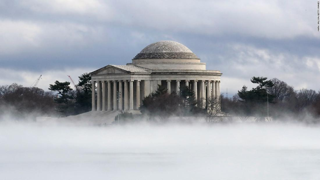 "Fog rises in front of the Jefferson Memorial on Friday, January 12, in Washington. <a href=""http://www.cnn.com/2018/01/12/world/gallery/week-in-photos-0112/index.html"">See last week in 32 photos.</a>"