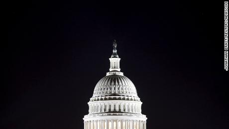 The U.S. Capitol dome is pictured in the pre-dawn darkness in Washington in this file general view photo taken October 18, 2013.    REUTERS/Jonathan Ernst/Files (Newscom TagID: rtrlseven747765.jpg) [Photo via Newscom]