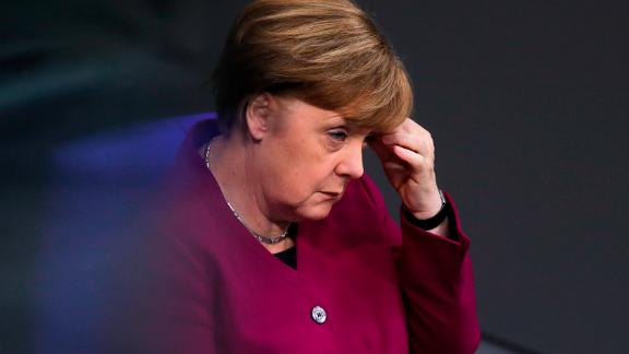 German Chancellor Angela Merkel attends a debate at the German parliament Bundestag about refugee policy in Germany, in Berlin, Friday, Jan. 19, 2018. (AP Photo/Markus Schreiber)