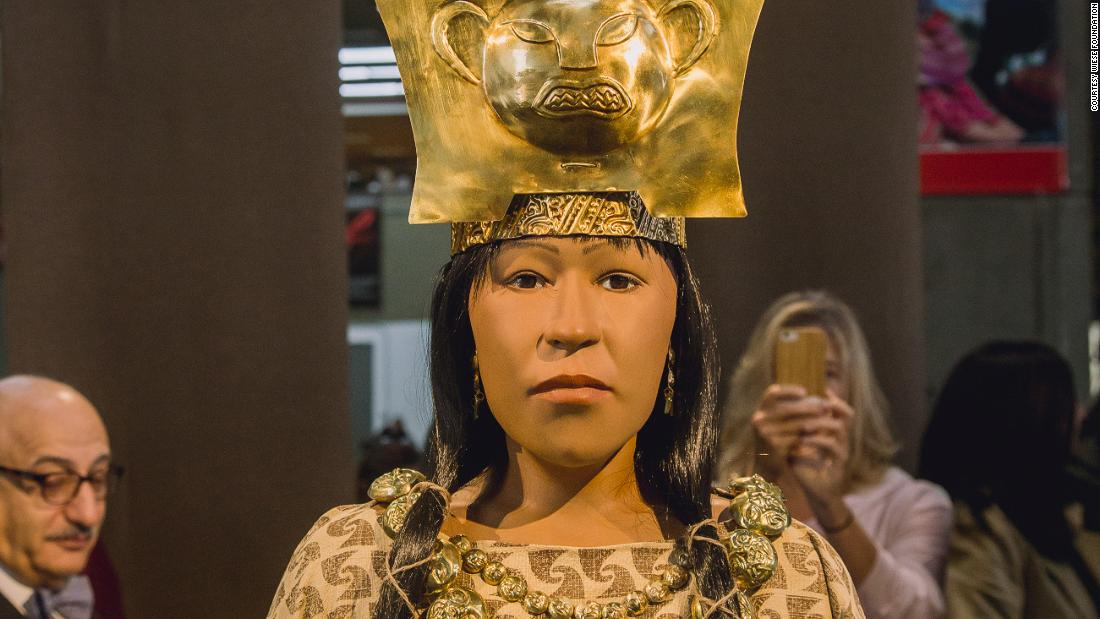 "Scientists at <a href=""https://www.elbrujo.pe/en/explores-the-complex/madam-of-cao/reconstruction-of-the-face/"" target=""_blank"">El Brujo</a> reconstructed the face of  Lady Cao, using 3D printing. First, they used a laser scanner to map her skull bones, then they added tissue to the model."