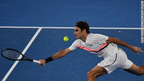 Roger Federer played under the lights Thursday.