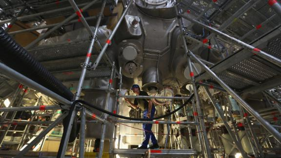 The Wendelstein 7-X experimental fusion reactor.