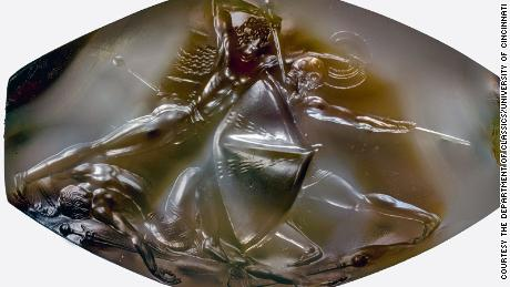 The ancient Greek masterpiece etched on a tiny gemstone