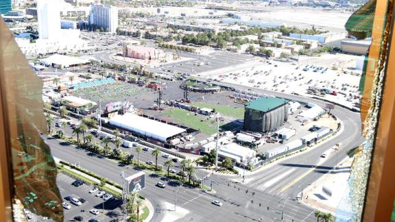The view of Las Vegas Village from Stephen Paddock
