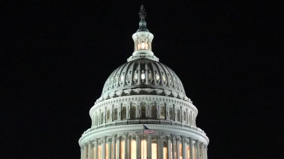 A general view of The United States Capitol is seen in Washington, D.C. on January 19.