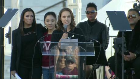natalie portman 12 years old story women march sot_00010226