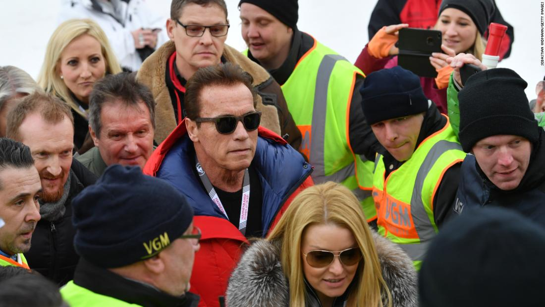 <strong>He's back!:</strong> Actor, politician and muscle man Arnold Schwarzenegger is a regular visitor to the legendary race.