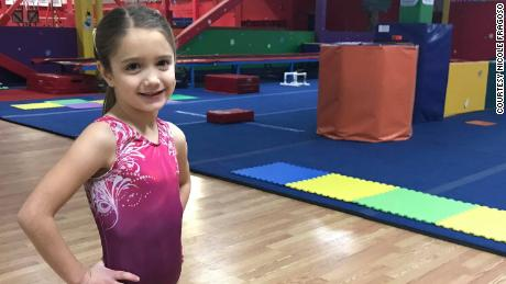 Julia Fragoso, 6, is the daughter of a former gymnast. Her mother says in light of the Nassar abuse scandal, she wouldn't want Julia to travel alone as a minor.