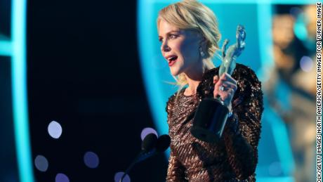 Nicole Kidman accepts the award for 'Outstanding Performance by a Female Actor in a Television Movie or Limited Series'  onstage during the 24th Annual Screen Actors Guild Awards