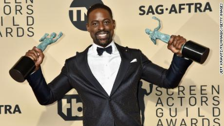 "Sterling K. Brown won two SAG Awards for his work in ""This Is Us."""