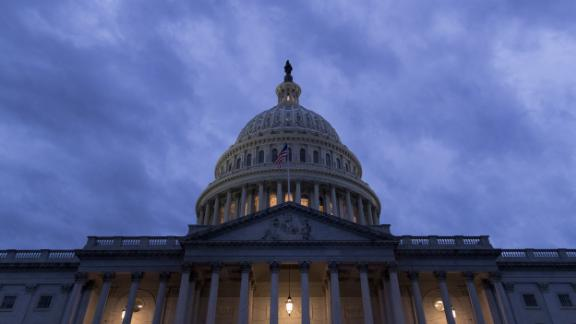 The U.S. Capitol stands in Washington, D.C., U.S., on Sunday, Jan. 21, 2018. The House and Senate are back in session Sunday with a federal government shutdown in its second day amid a spending-bill impasse in Congress. The House is supposed to be on recess this week, but members stayed in Washington as negotiations continue. Photographer: Andrew Harrer/Bloomberg via Getty Images