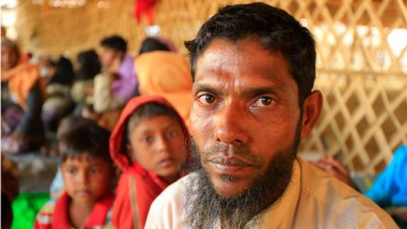 Portrait of Salim inside the Bhalukhali refugee camp, Cox's Bazar Bangladesh.