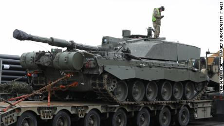 This British Challenger 2 tank and other heavy vehicles were shipped to Estonia last year in a NATO mission confronting any potential Russian aggression.