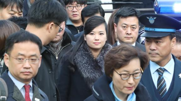 Hyon Song-Wol (C), the leader of North Korea