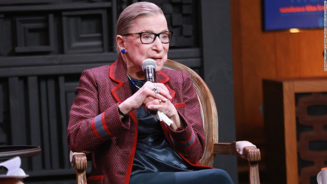 Ruth Bader Ginsburg takes off the gloves