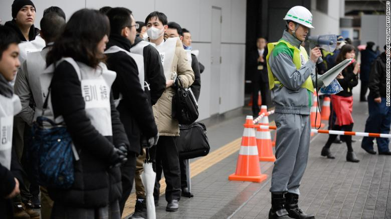 Tokyo stages first missile evacuation drill