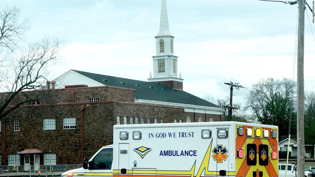 Churches dot the main streets and signs of God are everywhere, including on an ambulance.