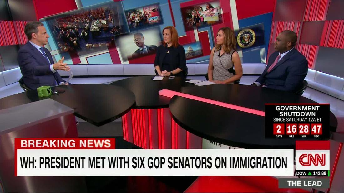 Trump meets with GOP, Dem Sens on immigration