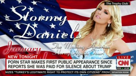 Stormy Daniels appears amid affair claim