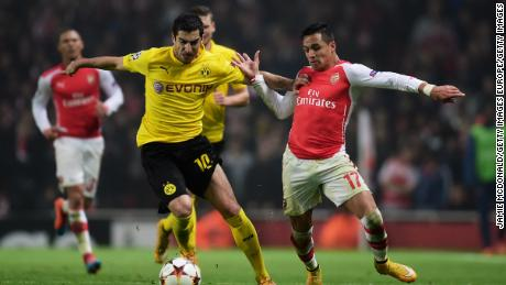 Before coming to England, Mkhitaryan played for Borussia Dortmund in the Bundesliga.