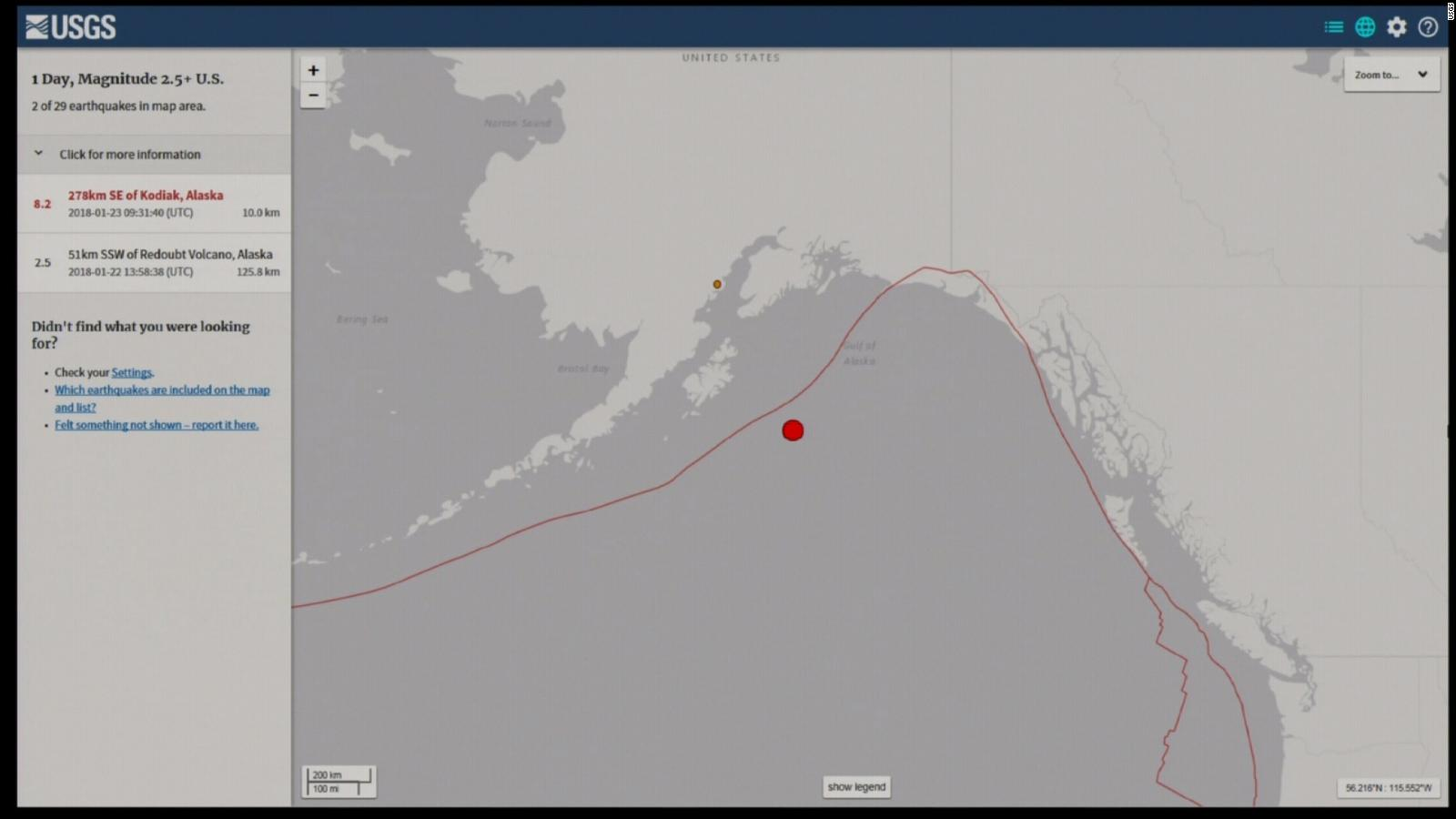 tsunami warnings canceled after magnitude 7 9 earthquake off alaska cnn