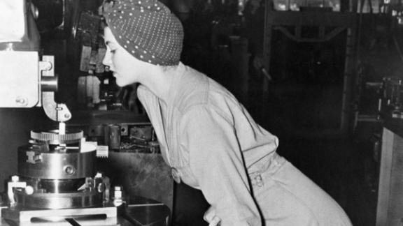 Naomi Parker Fraley was photographed as she worked at the Alameda Naval Station.