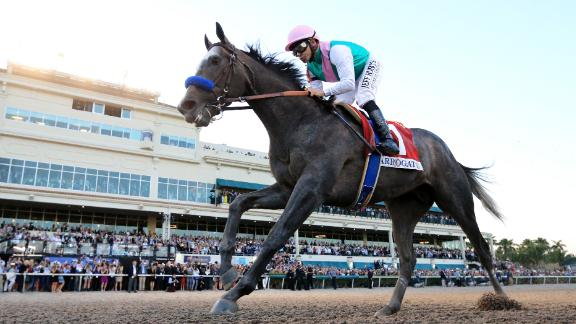 Arrogate -- named World's Best Racehorse in 2016 -- beat California Chrome in a classic final duel to win the inaugural 2017 Pegasus World Cup, then worth $12 million in total.