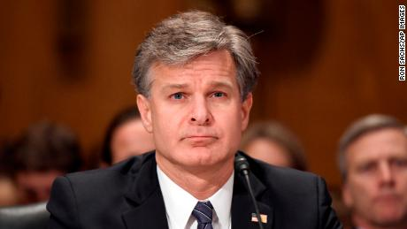 "Christopher A. Wray, Director, Federal Bureau of Investigation (FBI) testifies before the United States Senate Committee Homeland Security and Governmental Affairs on ""Threats to the Homeland"" on Capitol Hill in Washington, DC on Wednesday, September 27, 2017."