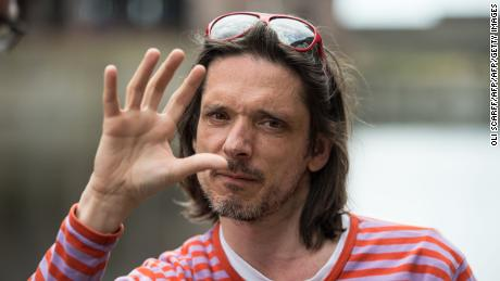 "Turner Prize-winning artist Jeremy Deller during the celebrations for the 50th anniversary of the release of the Beatles' album, ""Sgt. Pepper's Lonely Hearts Club Band,"" in Liverpool, England, on June 1, 2017."