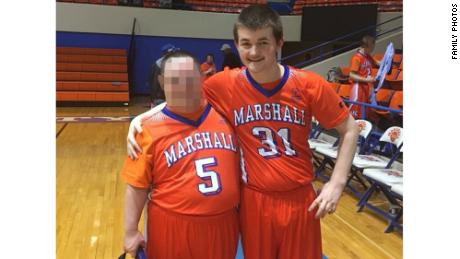 Daniel Austin, right, was wounded in Tuesday's shooting at Marshall County High School.