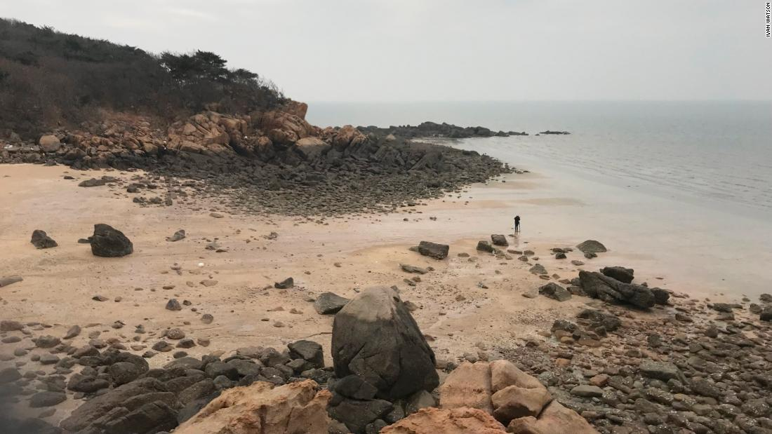 A view of the beach where Unit 684 recruits lived and trained for three years on Silmido until they staged a bloody mutiny on August 23, 1971 and killed 18 of their trainers.
