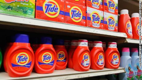 MIAMI, FL - MARCH 13:  Tide laundry detergent is seen on a store shelf on March 13, 2012 in Miami, Florida. It was recently reported that the theft and black market re-sale of Tide laundry detergent is presumably on the rise however even though law enforcement acknowledge that name-brand household items are commonly a target from store shelves, authorities say they have not seen a specific rise in stolen Tide detergent.  (Photo by Joe Raedle/Getty Images)