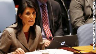 Nikki Haley says Russia is complicit in Syrian atrocities