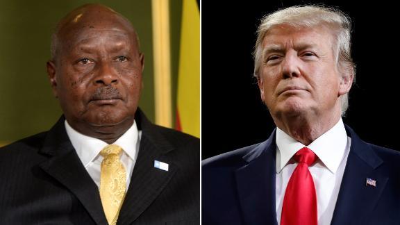 Ugandan President Yoweri Museveni says Donald Trump is one of America's best presidents.
