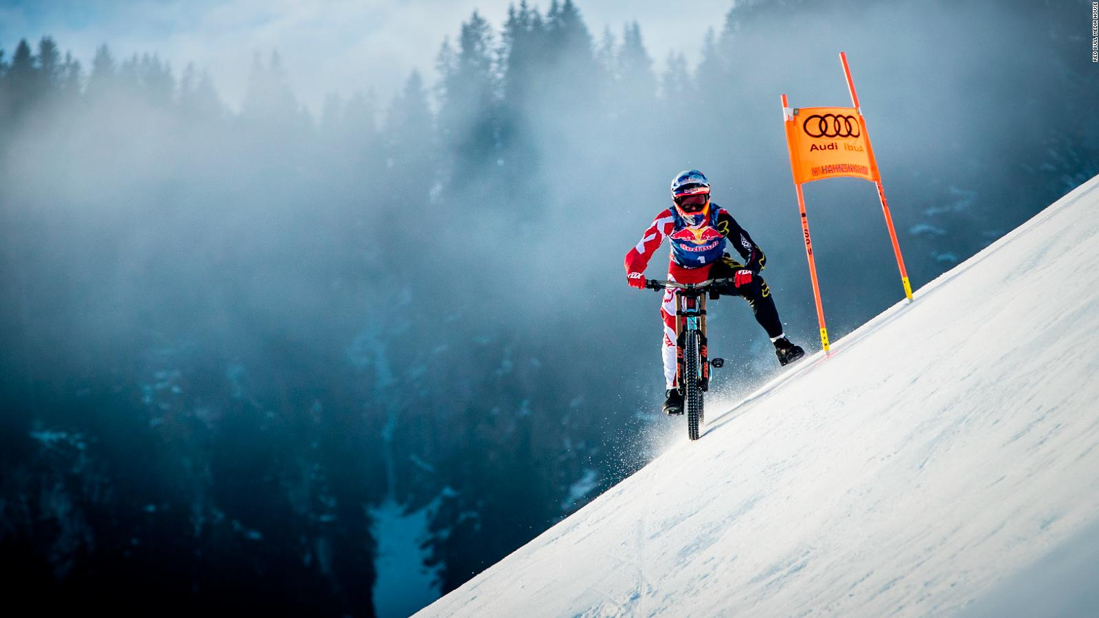Kitzbuhel Mountain Biker Max Stockl Conquers Worlds Toughest Ski Run
