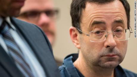 Dr. Larry Nassar appears in court during his sentencing in 2018.