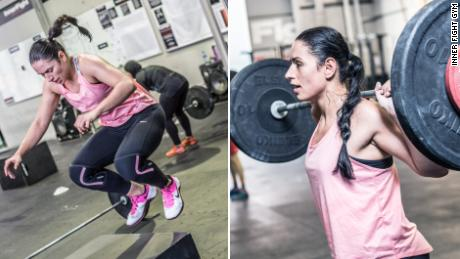 Shadia Bseiso training at a crossfit gym.
