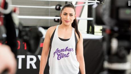 Shadia Bseiso at the WWE tryouts.