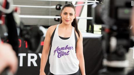 Shadia Bseiso at the WWE tryouts