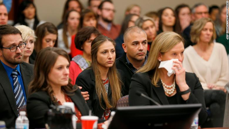 People React As Former Michigan State University And Usa Gymnastics Doctor Larry Nassar Listens To Impact