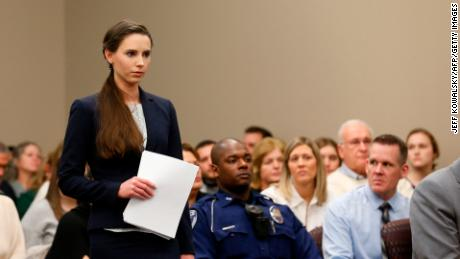 Rachael Denhollander gives a victim impact statement last week in Larry Nassar's sentencing.