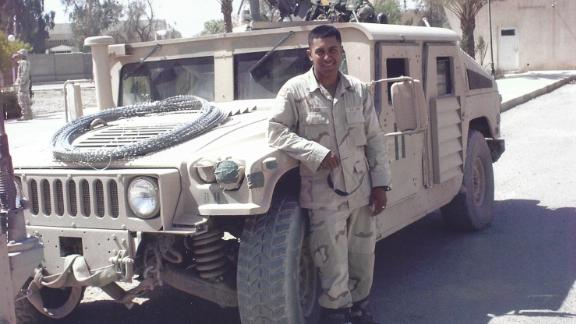 U.S. Army Staff Sgt, Rico Roman, in Iraq