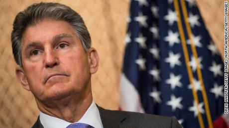 WASHINGTON, DC - JUNE 27:  U.S. Sen. Joe Manchin (D-WV) looks on during a news conference to discuss the national opioid crisis, on Capitol Hill June 27, 2017 in Washington, DC. The Democratic senators discussed the opioid issue and how it relates to the Senate health care bill being considered.  (Photo by Drew Angerer/Getty Images)