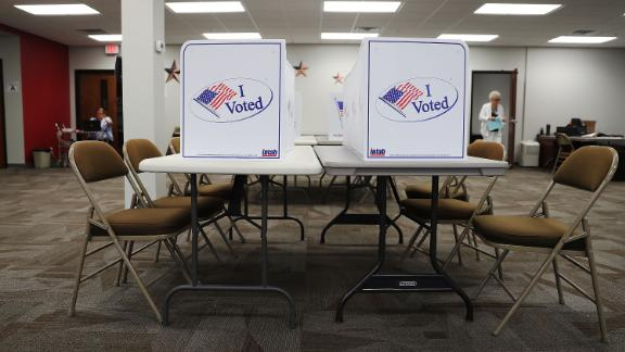 TAMPA, FL - OCTOBER 24:  Voting booths are ready for voters at an early voting site in the Supervisor of Elections office on October 24, 2016 in Bradenton, Florida. Today early general election voting started in the state of Florida and ends on either Nov 5 or Nov 6th.  (Photo by Joe Raedle/Getty Images)