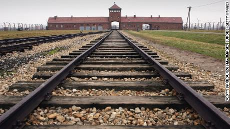 BREZEZINKA, POLAND- DECEMBER 10:  The railway tracks leading to the main gates at Auschwitz II - Birkenau seen December 10, 2004 the camp was built in March 1942 in the village of Brzezinka, Poland. The camp was liberated by the Soviet army on January 27, 1945, January 2005 will be the 60th anniversary of the liberation of the extermination and concentration camps, when survivors and victims who suffered as a result of the Holocaust will commemorated across the world. (Photo by Scott Barbour/Getty Images)