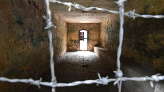 A gas chamber at the Stutthof concentration camp, where Goldberg was held by the Nazis.