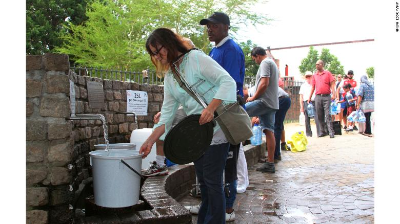 Cape Town, South Africa, is set to run out of water in April.