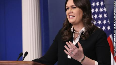 WASHINGTON, DC - JANUARY 17:  White House Press Secretary Sarah Huckabee Sanders answers questions during the daily briefing at the White House January 17, 2018 in Washington, DC. Sanders fielded a range of questions relating to pending immigration legislation, continued funding of the federal government, and U.S. President Donald Trump's recent physical examination.  (Photo by Win McNamee/Getty Images)