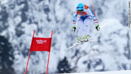 SOCHI, RUSSIA - FEBRUARY 09:  Matthias Mayer of Austria skis during the Alpine Skiing Men's Downhill at Rosa Khutor Alpine Center on February 9, 2014 in Sochi, Russia.  (Photo by Clive Rose/Getty Images)