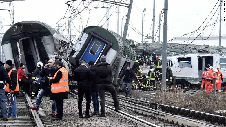 All passengers who were trapped in the derailment have been accounted for, the Red Cross says.